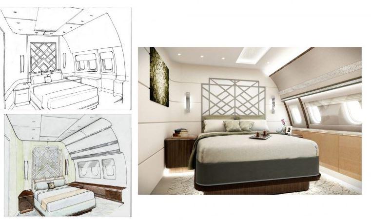 aircraft interior showcase